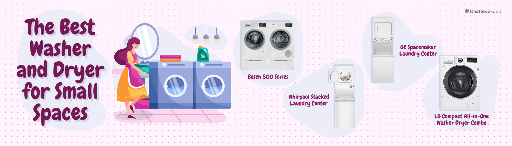 small washer and dryer small spaces infographic
