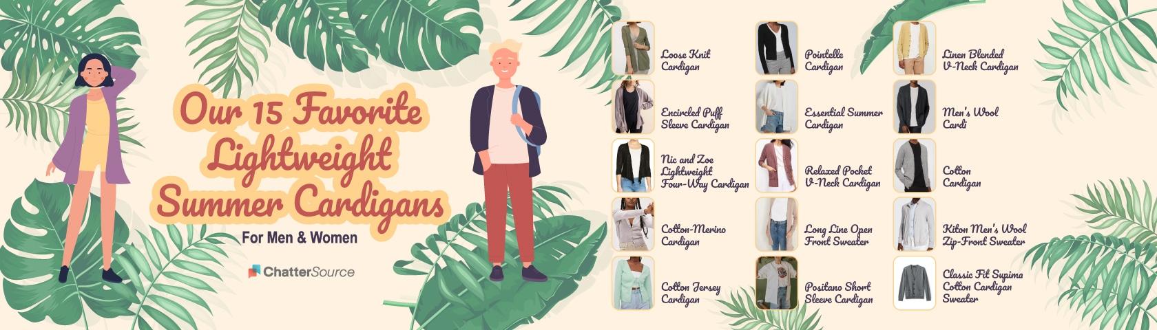 summer cardigan infographic