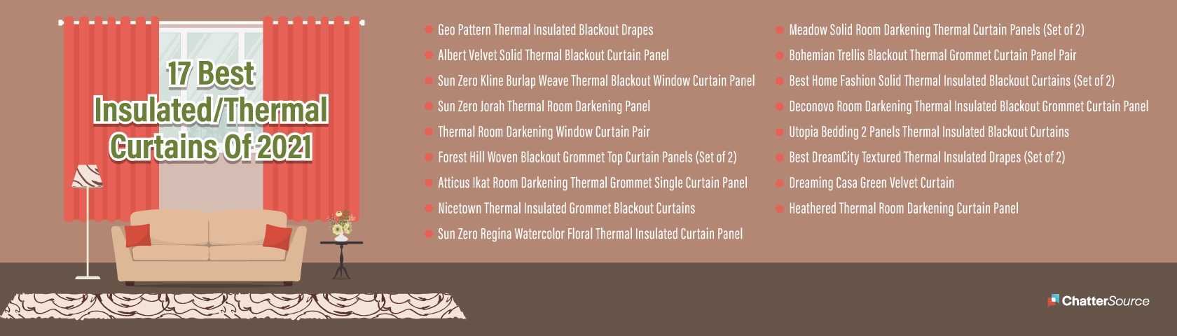 thermal curtains infographic