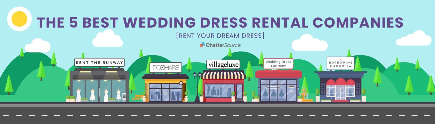 wedding dress rental companies infographic