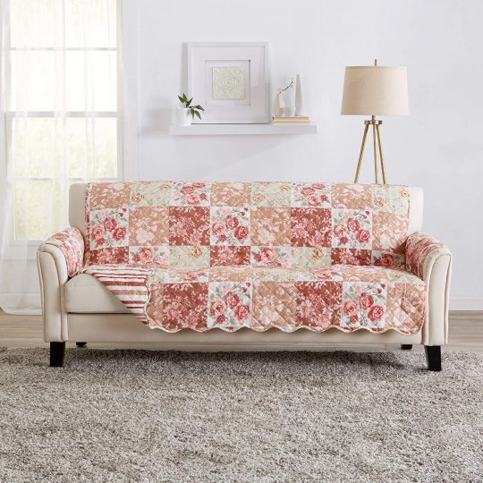 Reversible Floral Patchwork Cover