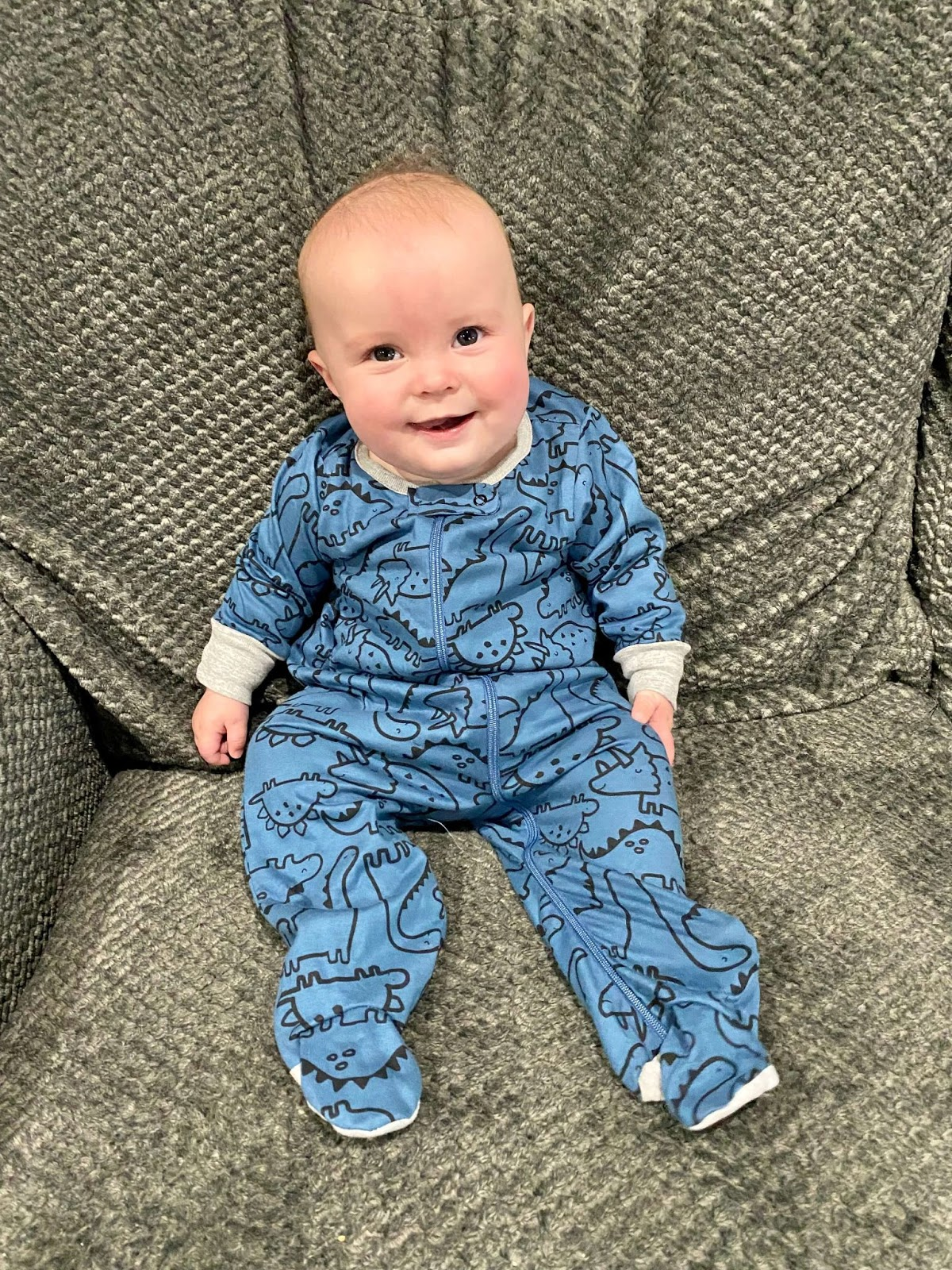 Adorable baby in Gerber onesie