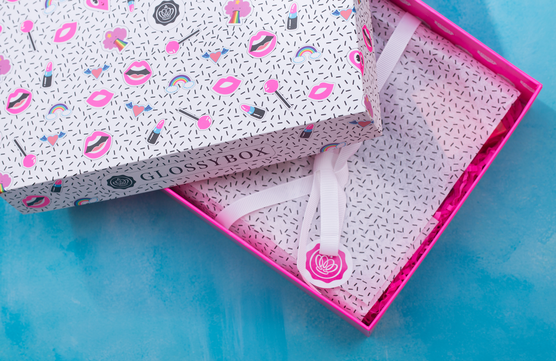 Glossybox with lid open