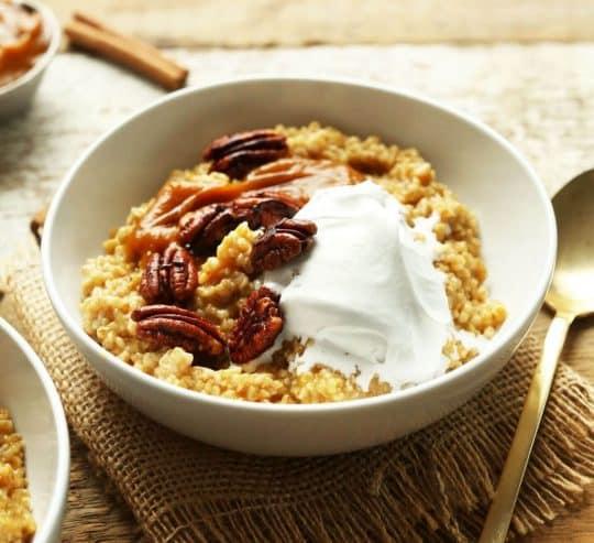 Pumpkin pie oats from MInimalislt Baker