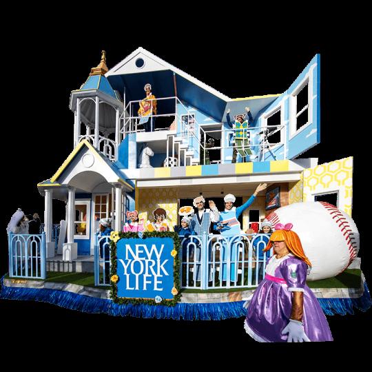 Toy House of Marvelous Milestones float