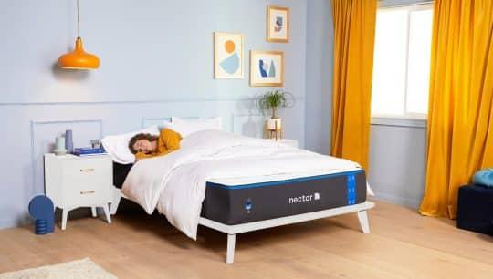 Woman sleeping on a Nectar mattress