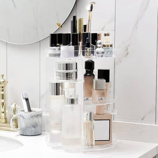 360 Degree Rotating Acrylic Makeup Organizer
