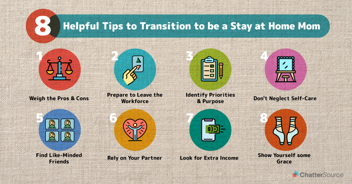 How To Be A Stay At Home Mom Infographic