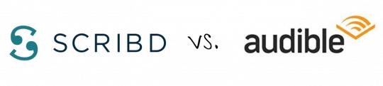 SCRIBD vs. Audible logos