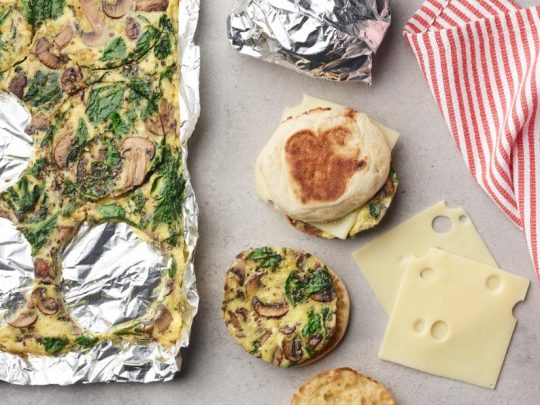 Spinach and egg muffins