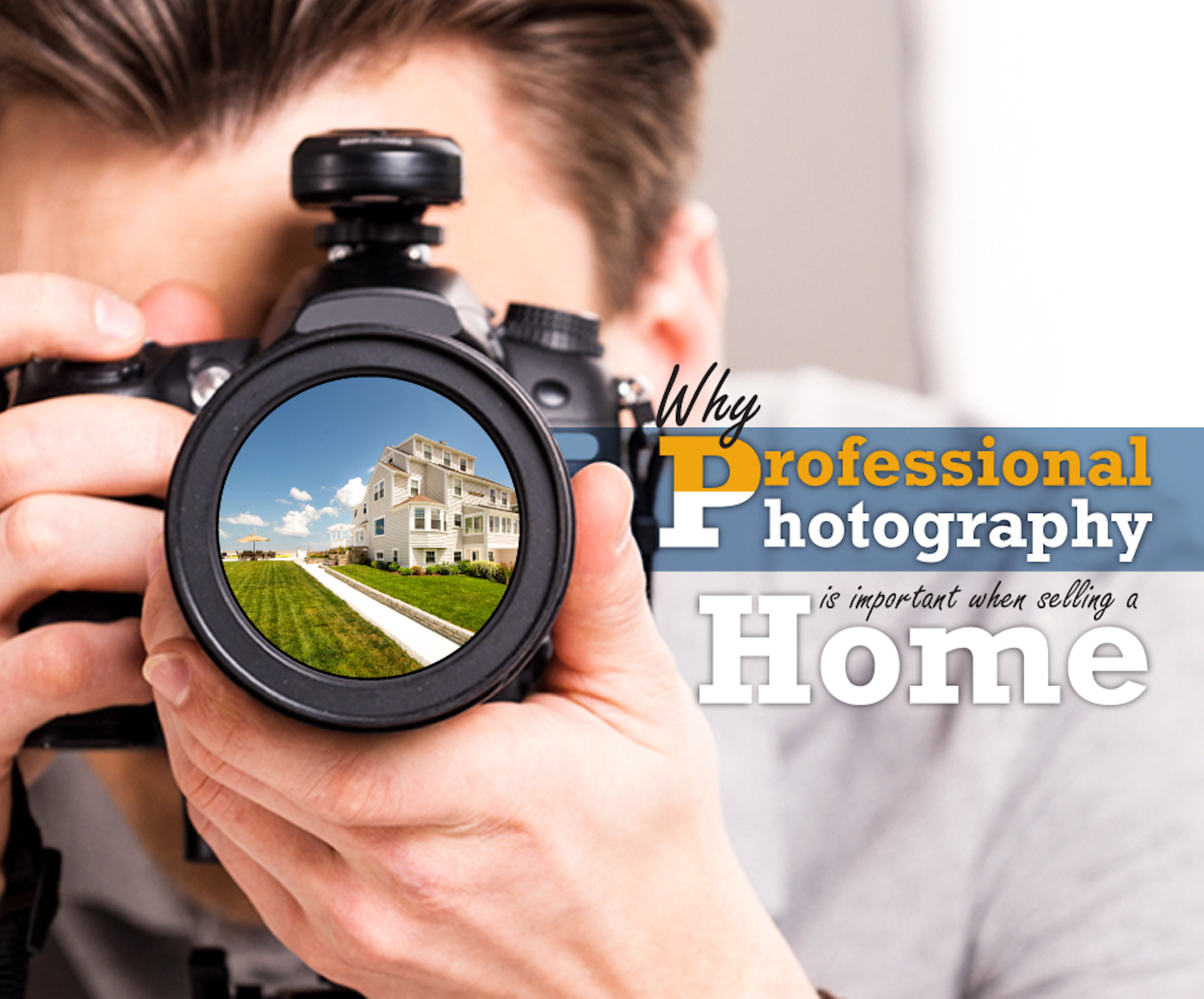 Man pointing his camera towards a house