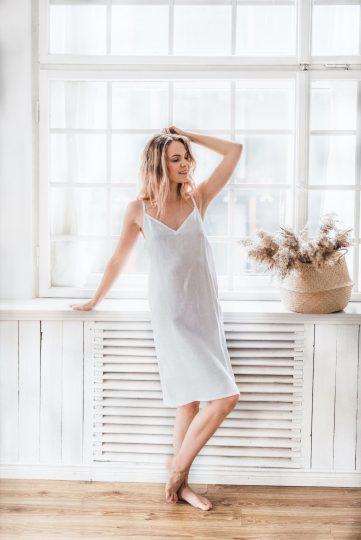 Stonewashed Linen Dress