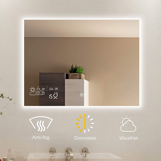 ByeCold Horizontal Vanity Touch Switch Bathroom Mirror