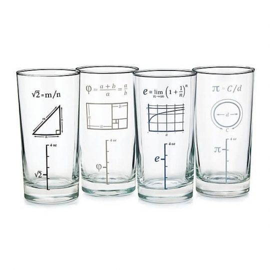Mathematical Drinking Glasses