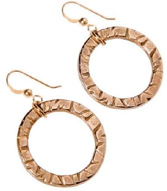 Peace Bronze Earrings