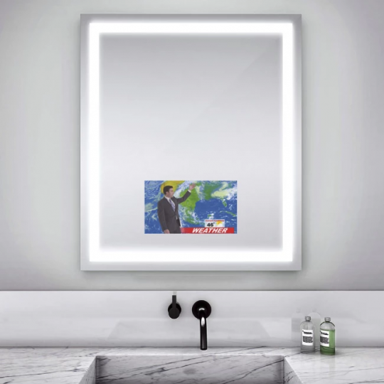 Integrity Lighted Mirror with Television