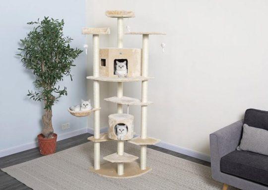 Go Pet Club 80-in Faux Fur Cat Tree & Condo