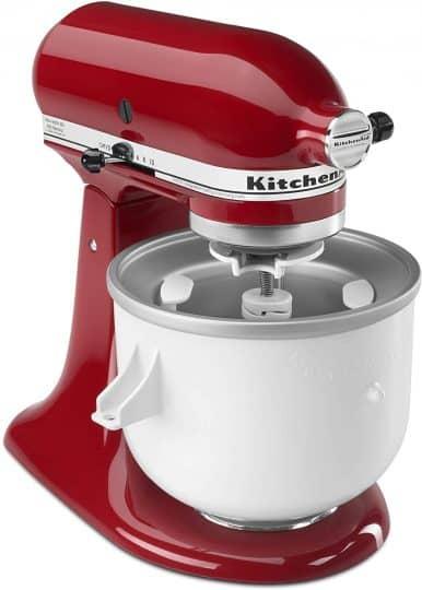 Kitchenaid with ice cream maker attachment