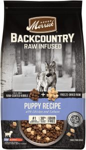 Merrick Backcountry Freeze-Dried Raw Puppy Recipe Grain-Free Dry Dog Food