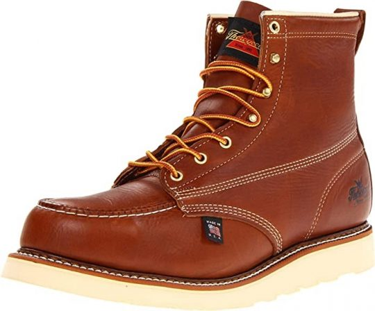 "Thorogood Men's American Heritage 6"" Steel Toe Wedge Sole Boot"