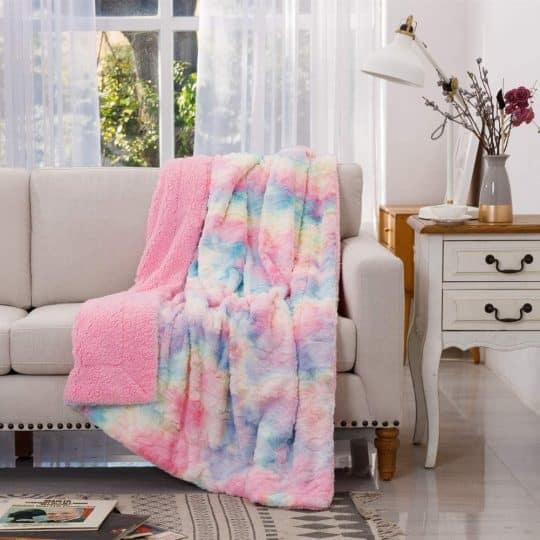 Newcosplay Tie-Dye Throw Blanket