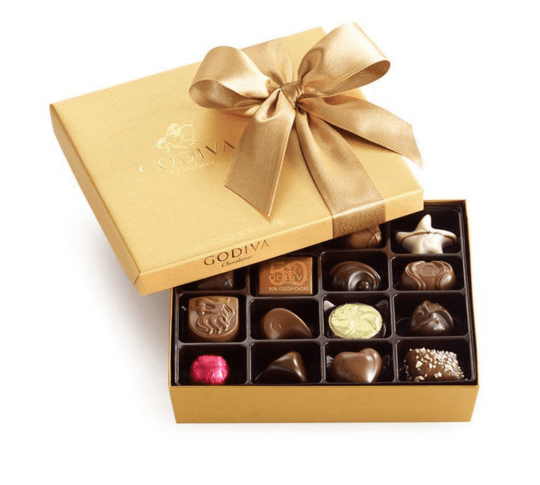 Box of Godiva chocolate