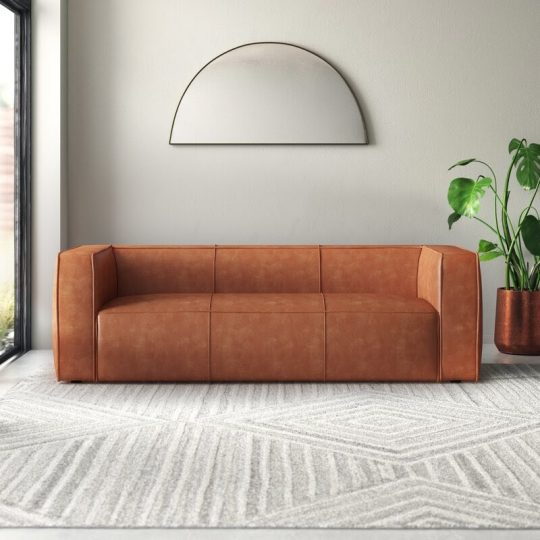 AllModern Kianna Genuine Leather Sofa