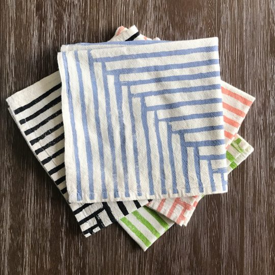 Hand printed napkins