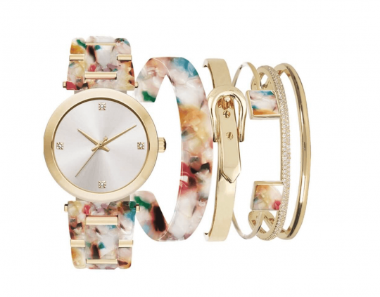 iTouch Multi Marble Resin Strap Watch Gift Set