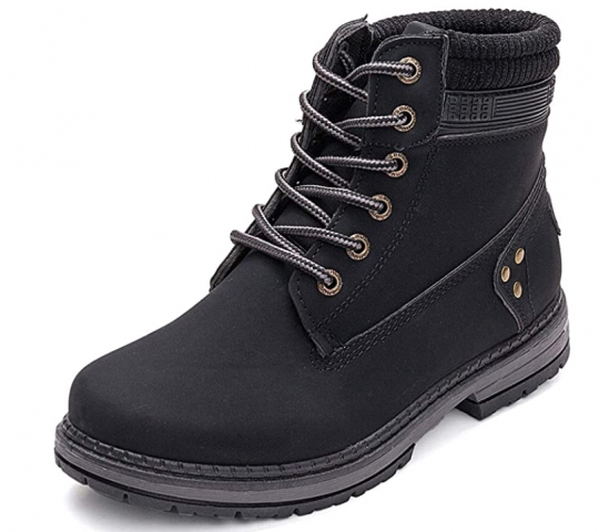 Athlefit Women's Lace Up Ankle Boots Waterproof Work Booties