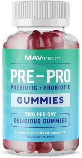 MAV Nutrition Daily Probiotic Gummies with Vitamin C and Folic Acid