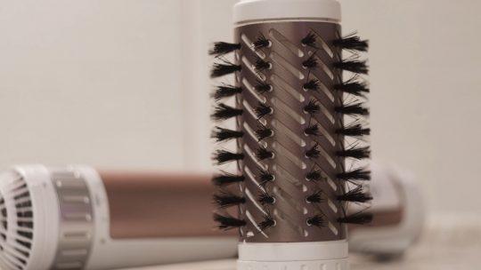 Close up of a hot air brush