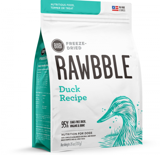 Bixbi Rawbble Duck Recipe