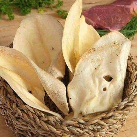 Cow ears in a basket