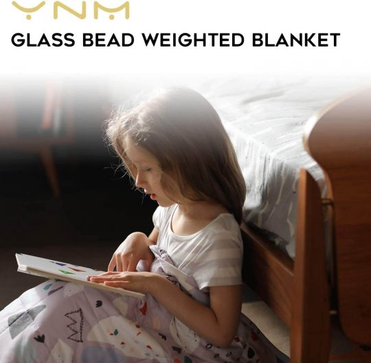 Glass bead weighted blanket